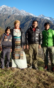 family in Sibuje Village in the Everest Region of Nepal