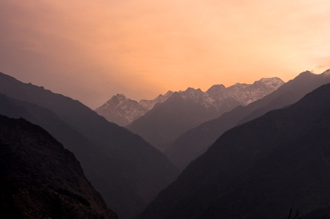 Sunrise in Sibuje is a magnificent sight. The valley shown here is the valley we would follow the rest of the trek, all the way to Mera Peak.