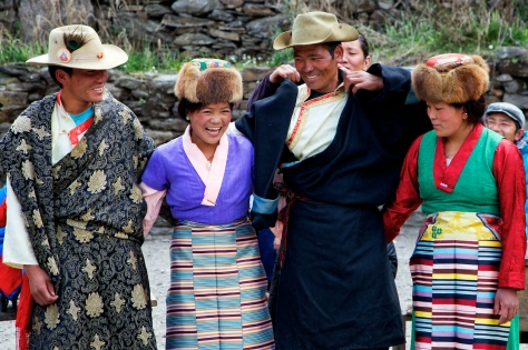Donning the traditional garb for the Sherpa Dance. Photo Credit: Christen Babb