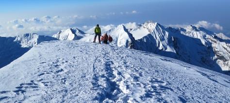 Karma on the summit of Mera Peak. Photo courtesy of Matt Dreger.