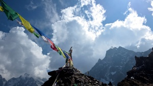 Prayer flag sky