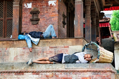 Durbar square is a location where many Kathmandu locals go for a break. © Luke Mislinski