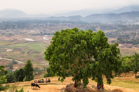 ©Luke Mislinski - View of Kathmandu to the West from Amanda's guest house rooftop.