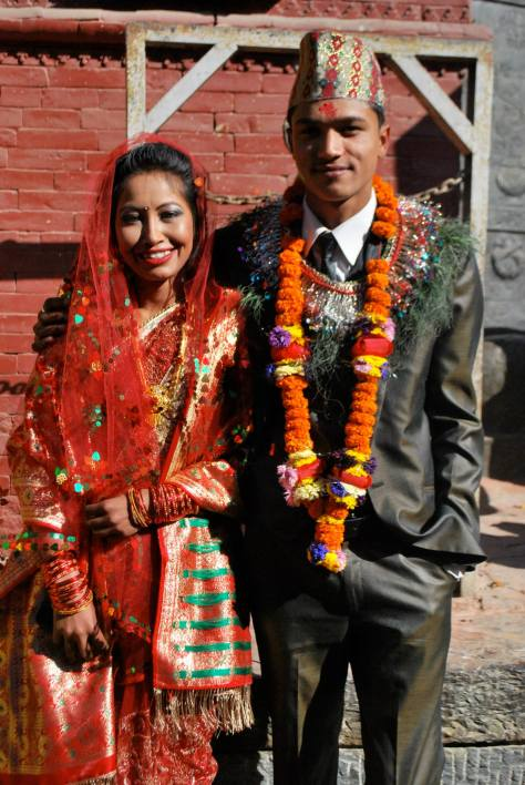 Ashok and Nina on their wedding day.